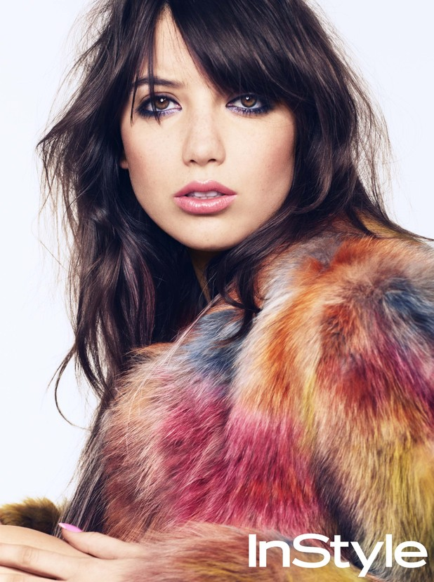 Daisy Lowe poses for InStyle