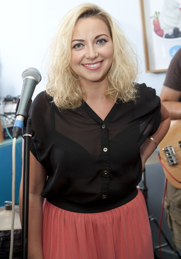 Charlotte Church played a showcase of some of her new music at Lick, an ice cream and frozen yoghurt parlour in Brighton.