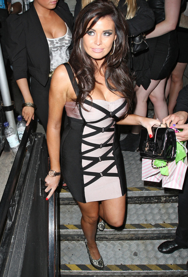 Jessica Wright arriving at Aura nightclub