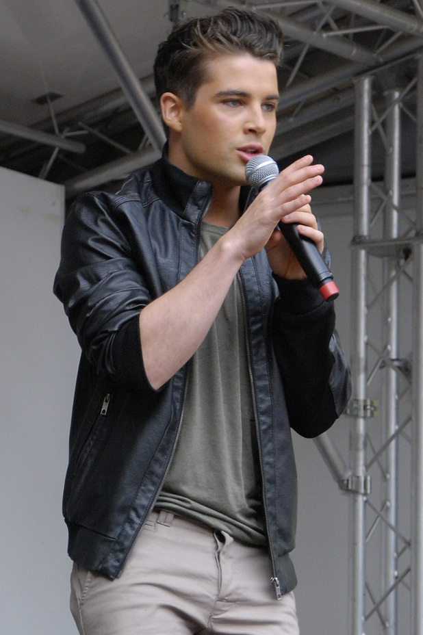 Joe McElderry performs at Leeds Pride.