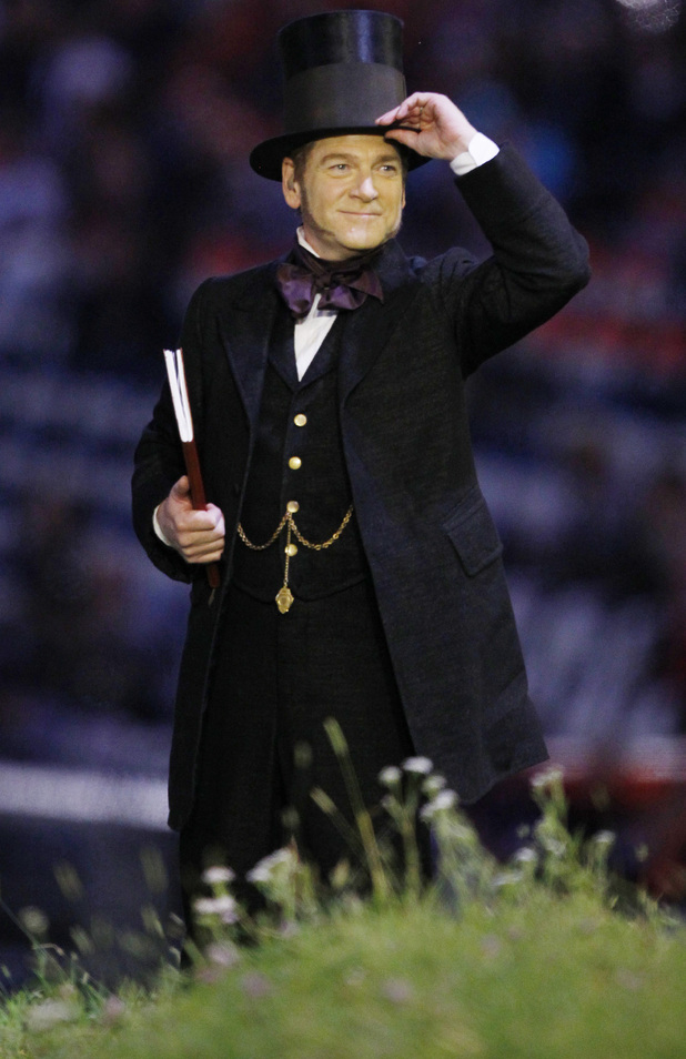 Kenneth Branagh appears in the Opening Ceremony