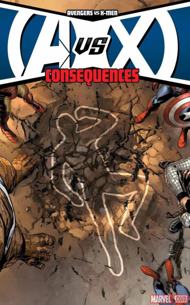 'Avengers Vs. X-Men: Consequences' artwork