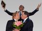 Mitt Romney, Donald Trump lookalikes wed