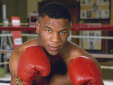 Tyson Mike heavy weight boxer posed action in 1986.