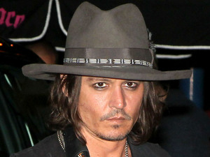 Johnny Depp at Steven Tyler's party at Pink Taco restaurant Los Angeles, California - 06.08.12 Mandatory Credit: Ryan/WENN.com