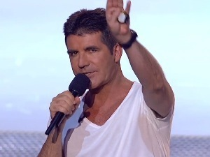 Screengrab of Simon Cowell from US X Factor promo.
