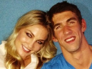 Megan Rossee and Michael Phelps