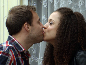 Tina and Tommy are stunned to see Tyrone and Kirsty kissing