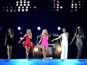 The Spice Girls perform during the Olympic Games Closing Ceremony at the Olympic Stadium, London. Picture date: Sunday August 12, 2012. See PA story OLYMPICS Ceremony. Photo credit should read: Owen Humphreys/PA Wire. EDITORIAL USE ONLY