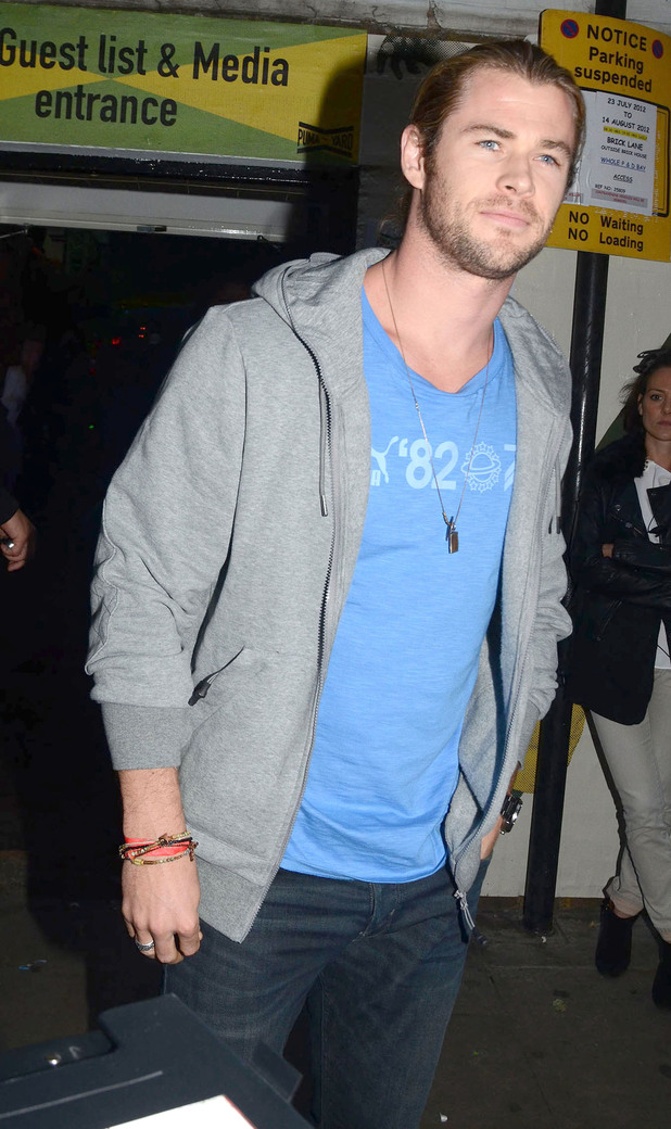 Chris HemsworthCelebrities attend a party at Brick Lane's Puma Yard to celebrate Jamaica's Independence Day