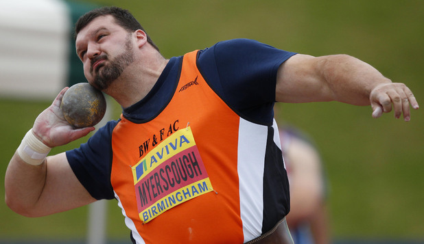Carl Myerscough, shot putt, London 2012