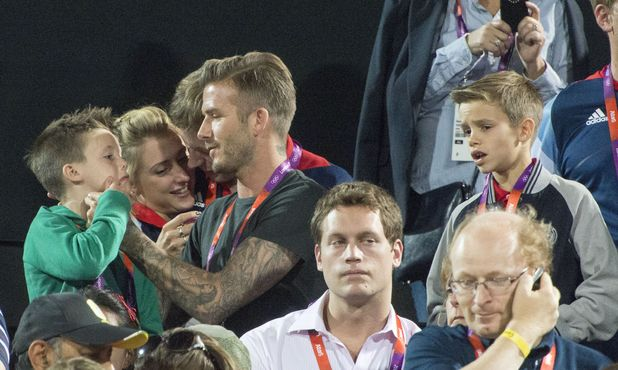 David, Cruz and Romeo Beckham