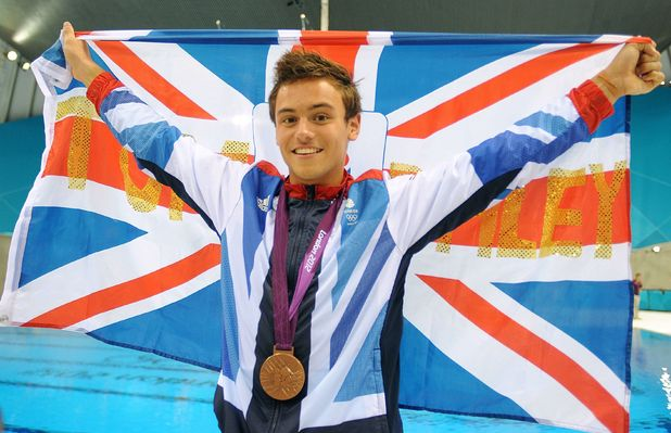 Tom Daley with his bronze medal.