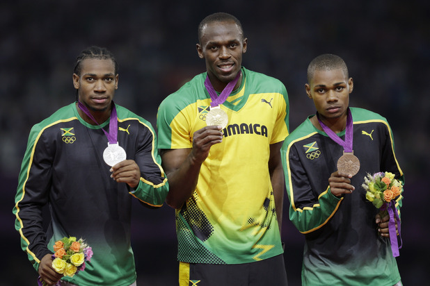 Jamaica's gold medal winner Usain Bolt