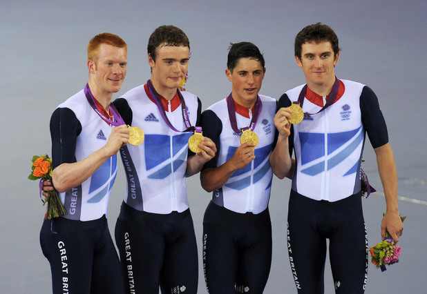 Steven Burke, Ed Clancy, Peter Kennaugh and Geraint Thomas