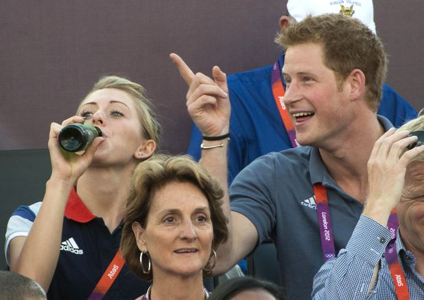 Laura Trott, Prince Harry, beach volleyball, London 2012