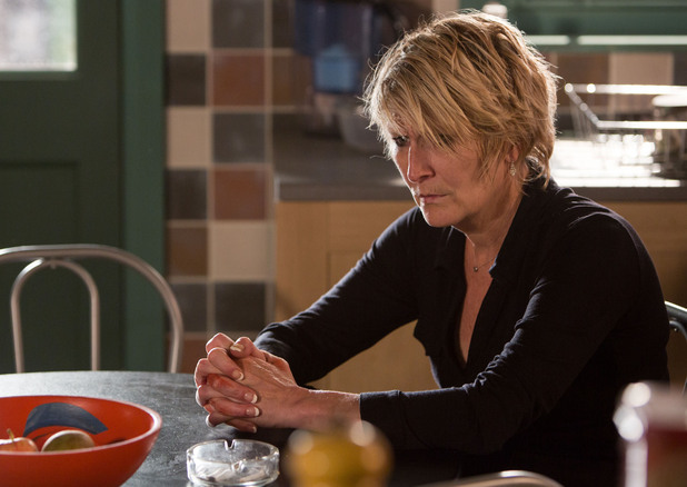 Shirley is left devastated when Andrew says Heather wouldn't approve of her behaviour.