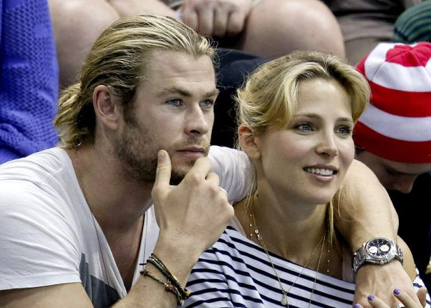 Chris Hemsworth, Elsa Pataky, water polo, London 2012