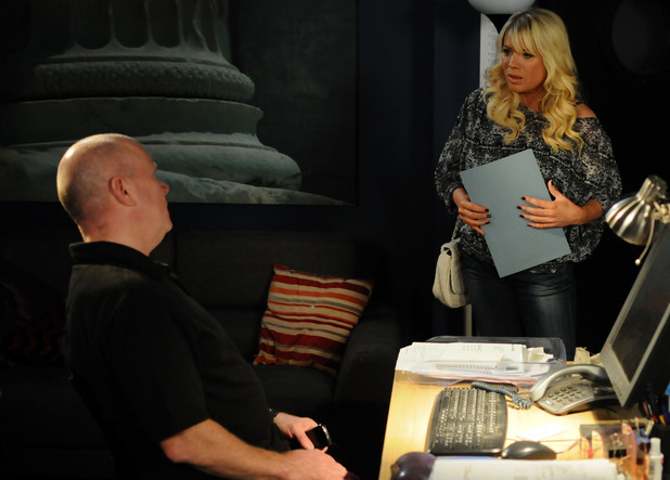 Phil tells Sharon he will find her a job.