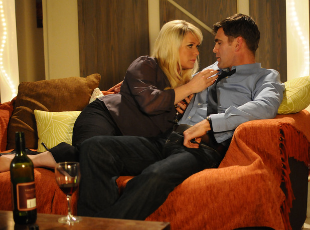 Sharon spends the night with Jack in EastEnders