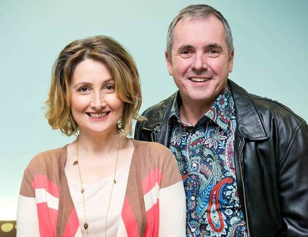 Alyce Platt and Alan Fletcher in Neighbours
