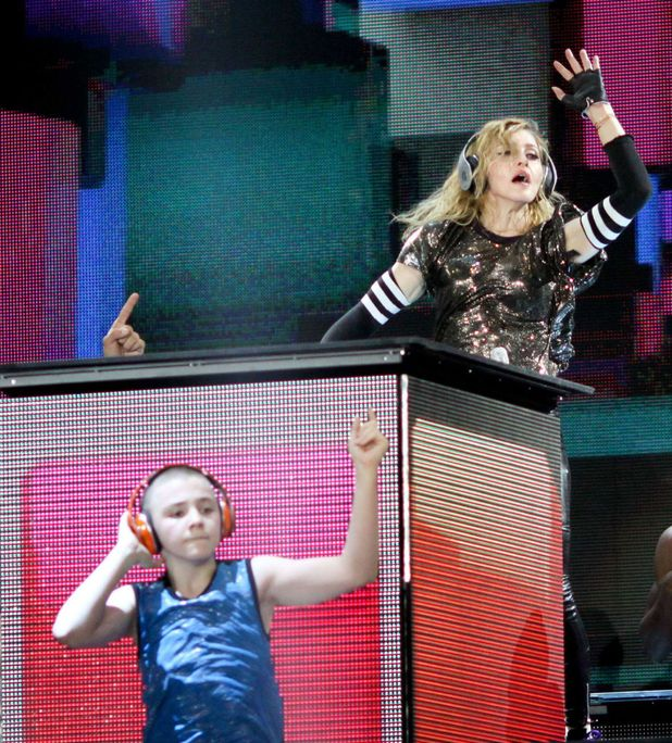 Madonna in concert on her MDNA tour, Moscow, Russia, Rocco