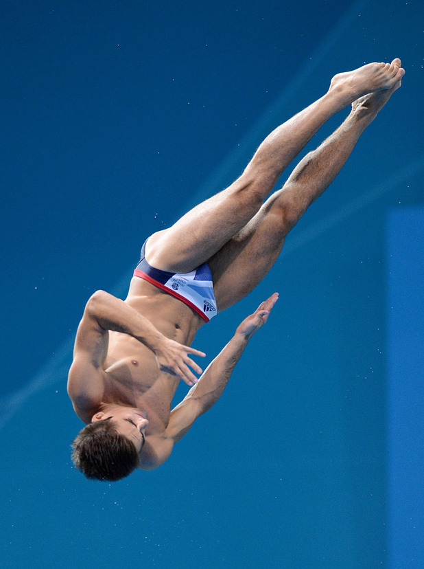 Chris Mears, during the Men's 3m Springboard Final at the Aquatics Centre in the Olympic Park
