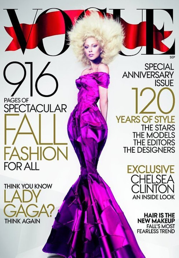 Lady GaGa on the cover of the September issue of Vogue magazine