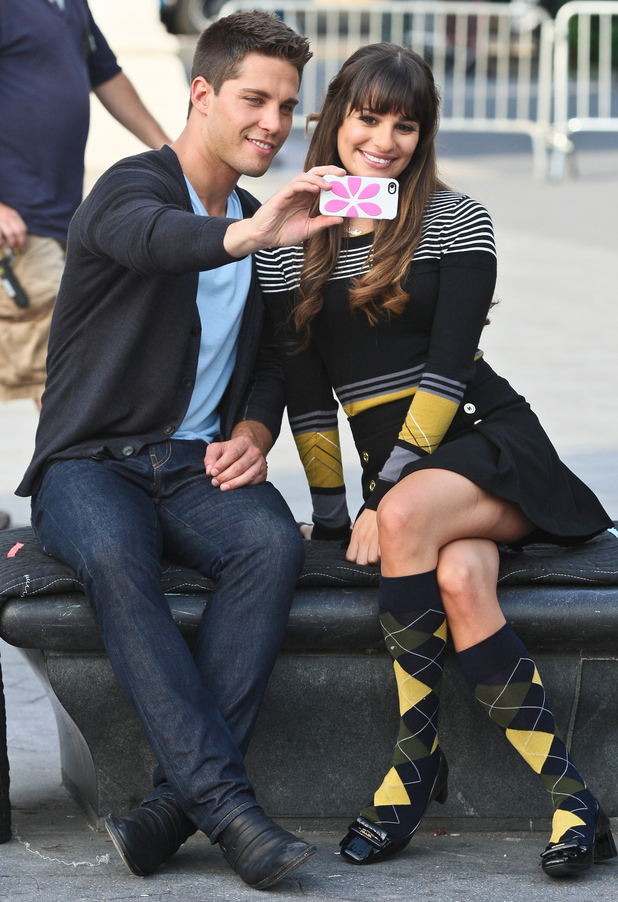 Lea Michele and Dean Geyer