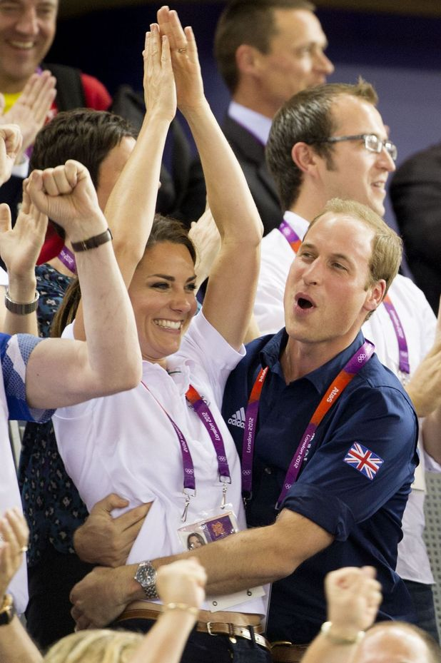 Prince William, Duchess of Cambridge, Cycling Team Sprint, London 2012
