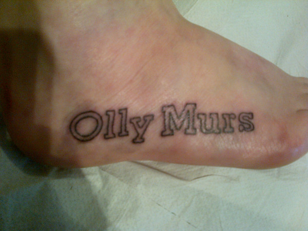 X Factor fan gets Olly Murs tattoo.