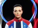 The gold medal winner uses bike lights to support Team GB.