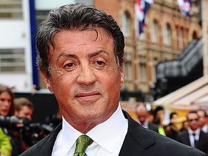 Sylvester Stallone with wife Jennifer Flavin arriving for the UK Premiere of The Expendables 2, at the Empire Cinema, Leicester Square, London.
