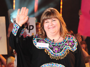 Cheryl Fergison enters the Celebrity Big Brother House