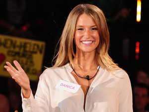 Danica Thrall enters the Celebrity Big Brother house