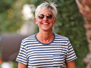 Ellen DeGeneres takes a stroll in Hollywood.