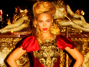 Beyonce in a picture from her Tumblr.