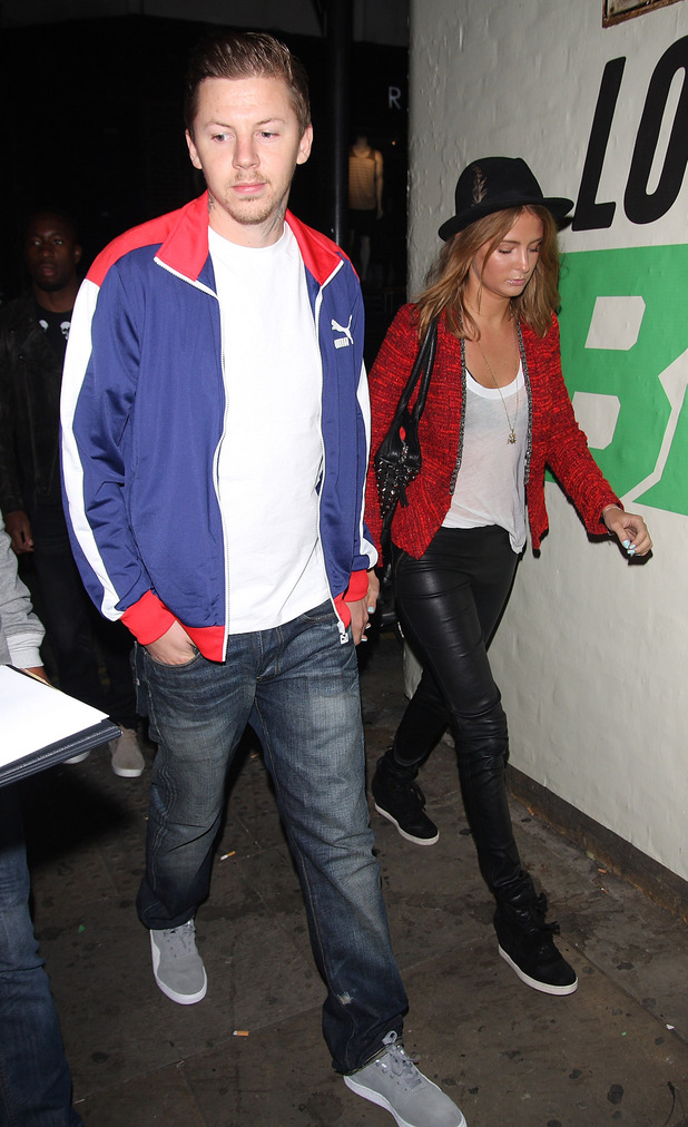 Professor Green and Millie MackintoshCelebrities visit the Puma Yard in East London