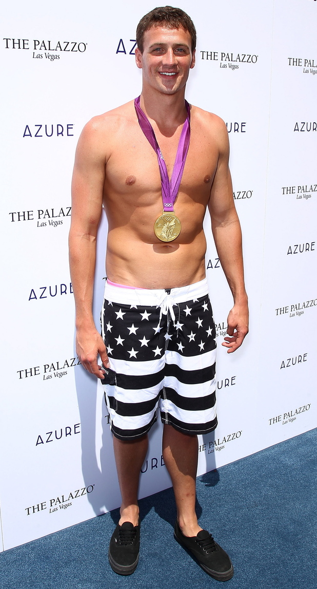 Ryan Lochte celebrates his Olympic success at The Palazzo Resort Hotel & Casino, Las Vegas.