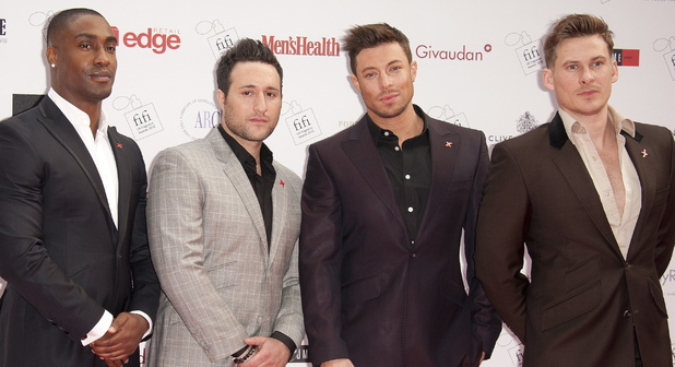 Blue - Lee Ryan, Anthony Costa, Simon Webbe, Duncan James The FiFi UK Fragrance Awards 2012 held at The Brewery - Arrivals London, England - 17.05.12 Mandatory Credit: WENN.com
