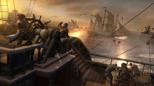 Assassin's Creed ship battle