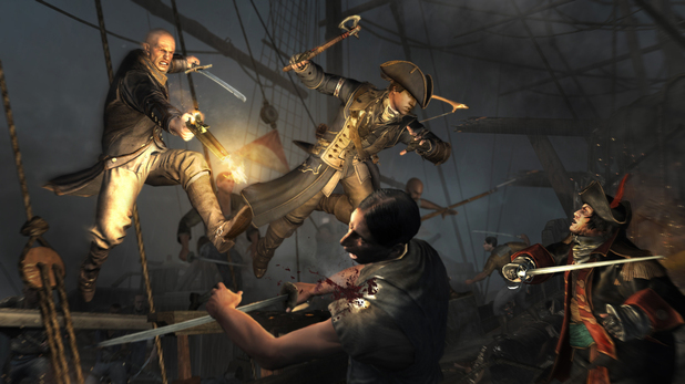 Assassin's Creed 3 naval warfare ship attack