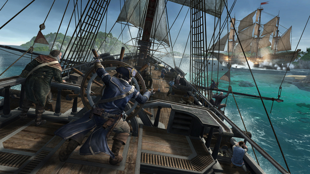 Assassin's Creed 3 naval warfare battle at sea