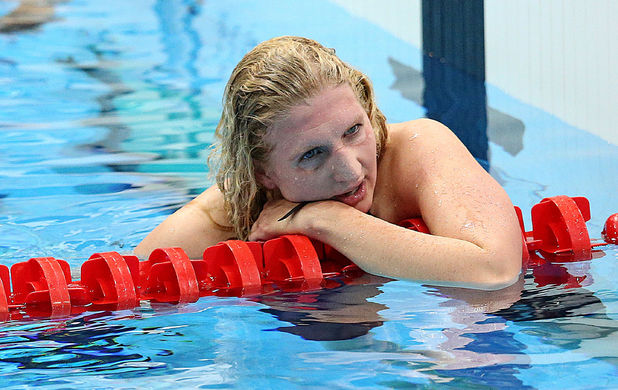 Rebecca Adlington, after finishing third in the Women's 800m Freestyle Final, London 2012