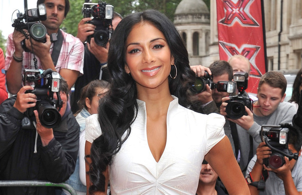Judge Nicole Scherzinger arriving at The X Factor press launch held at the Corinthia Hotel.