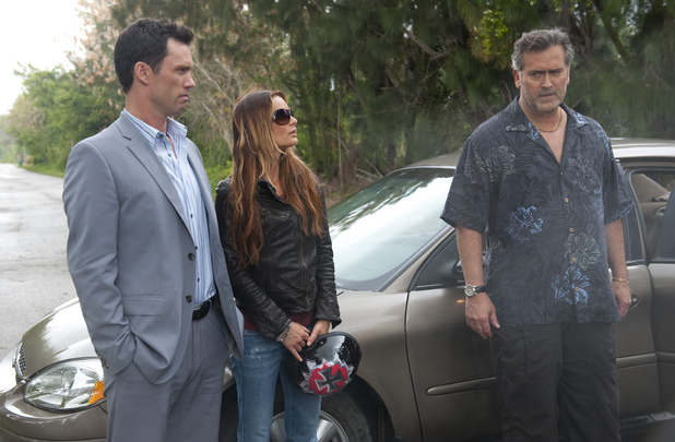 Bruce Campbell as Sam Axe in 'Burn Notice'