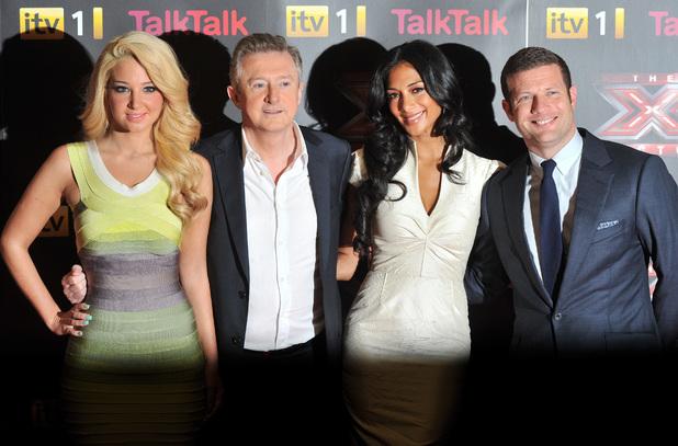 Dermot O'Leary, Louis Walsh, Tulisa Contostavlos and Nicole Scherzinger