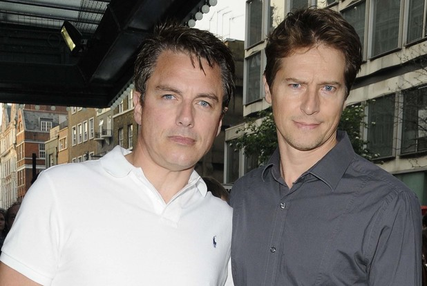John Barrowman and partner Scott Gill