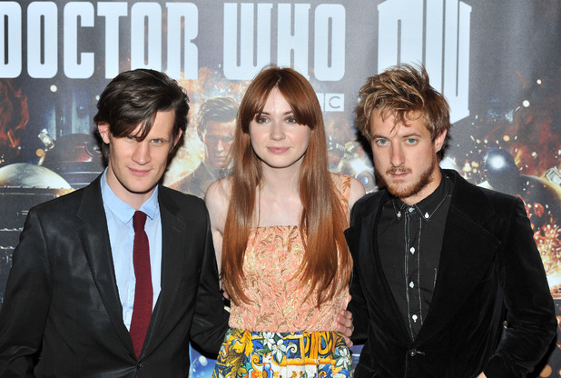Matt Smith, Karen Gillan, Arthur Darvill 'Doctor Who: Asylum of the Daleks' TV Preview and Q&A held at the BFI Southbank London