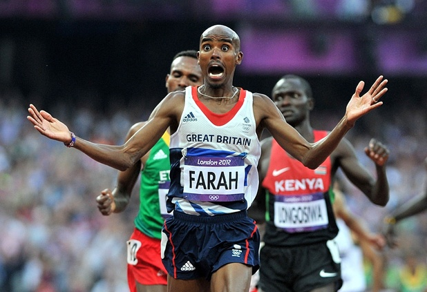 Mo Farah, wins the Men's 5000m Final